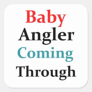 Adesivo Quadrado Pescador do bebê que vem completamente