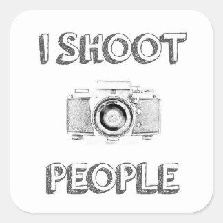 Adesivo Quadrado pessoas do fotógrafo engraçado da câmera da foto