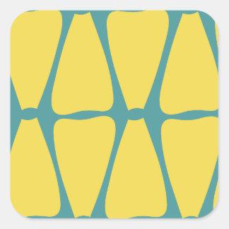 Adesivo Quadrado Pétalas amarelas