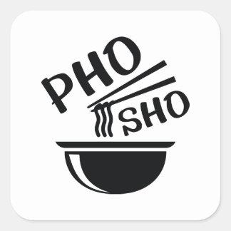 Adesivo Quadrado Pho Sho