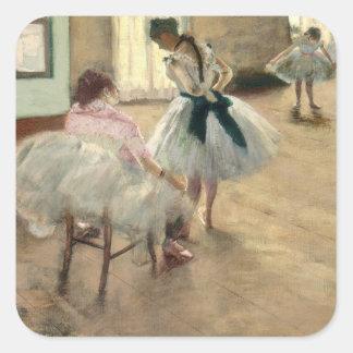 Adesivo Quadrado Pierre um Renoir | a lição de dança