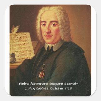 Adesivo Quadrado Pietro Alessandro Gaspare Scarlatti