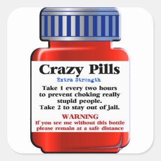 Adesivo Quadrado Pills_ louco