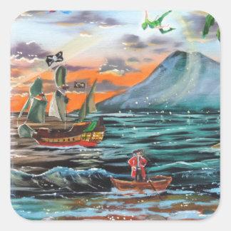 Adesivo Quadrado Pintura de Bell do funileiro da angra do gancho de