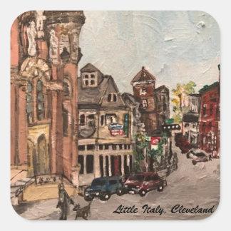 Adesivo Quadrado Pintura de pouca Italia, Cleveland Ohio em uma