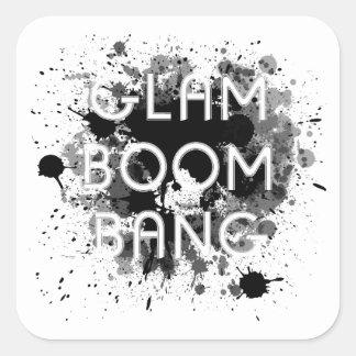 Adesivo Quadrado Pintura escura Splat do golpe Glam do crescimento