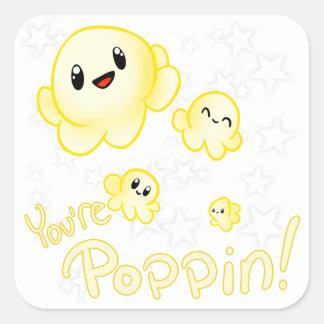 Adesivo Quadrado Pipoca de Poppin