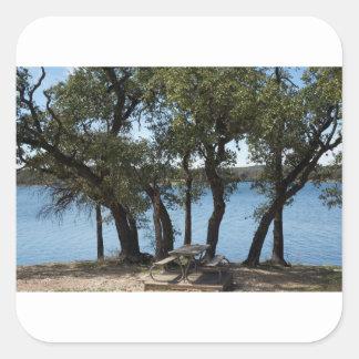 Adesivo Quadrado Piquenique no lago