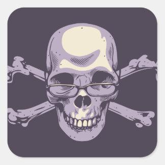 Adesivo Quadrado Pirata Nerdy