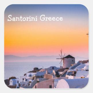 Adesivo Quadrado Piscina de Santorini