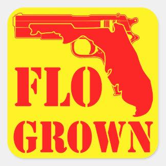 Adesivo Quadrado Pistola crescida Flo FB.com/USAPatriotGraphics