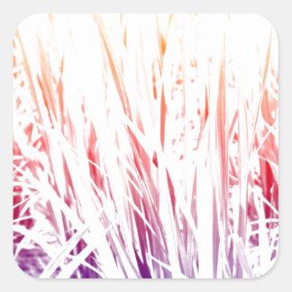 Adesivo Quadrado Planta de arroz