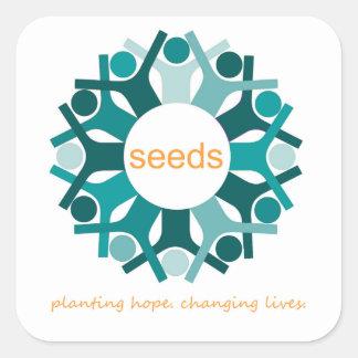 Adesivo Quadrado Plantando a esperança. Vidas em mudança