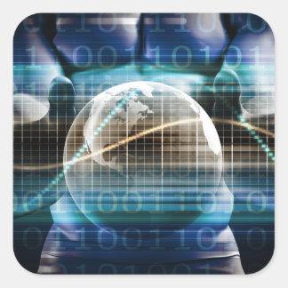 Adesivo Quadrado Plataforma da segurança do controlo de acessos