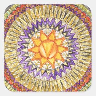 Adesivo Quadrado Plexo solar Chakra