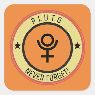 Adesivo Quadrado Pluto, nunca esquece