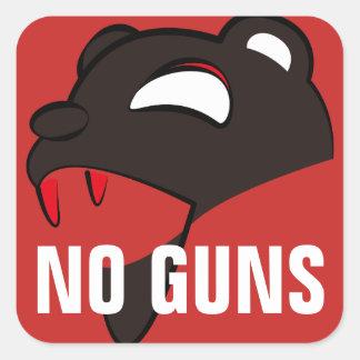 Adesivo Quadrado Pnha em perigo o urso