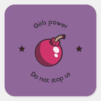 Adesivo Quadrado Poder das meninas