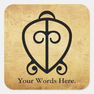 Adesivo Quadrado Poder de Odo Nnyew Fie Kwan   do símbolo do amor