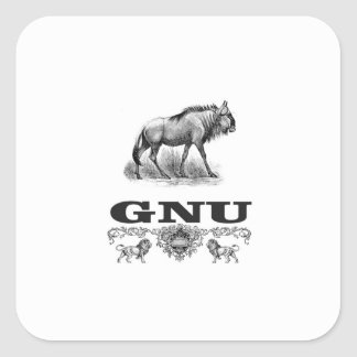 Adesivo Quadrado poder do gnu