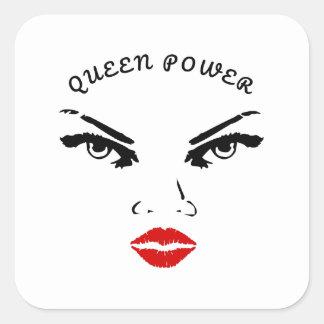 Adesivo Quadrado Poder vermelho da rainha dos lábios