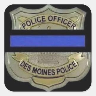 Adesivo Quadrado Polícia de Des Moines