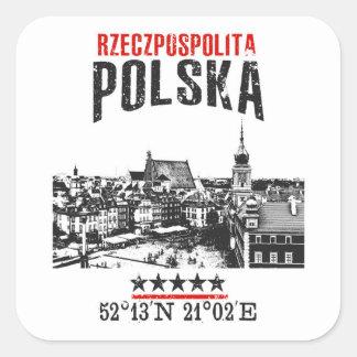 Adesivo Quadrado Polônia