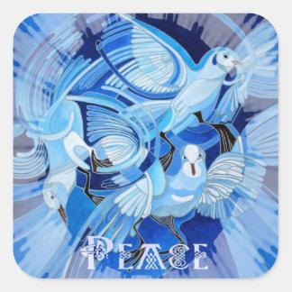 Adesivo Quadrado Pomba celta da paz