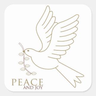 Adesivo Quadrado Pomba da paz