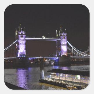 Adesivo Quadrado Ponte da torre, Londres