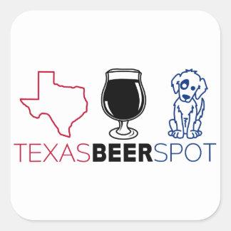 Adesivo Quadrado Ponto da cerveja de Texas