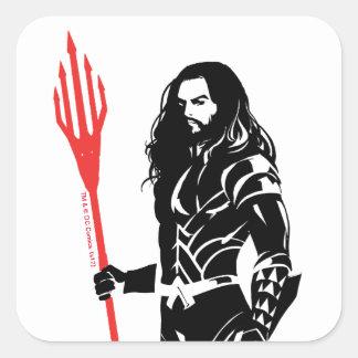 Adesivo Quadrado Pop art Noir da pose da liga de justiça | Aquaman