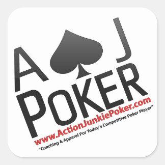 Adesivo Quadrado Póquer do toxicómano da ação