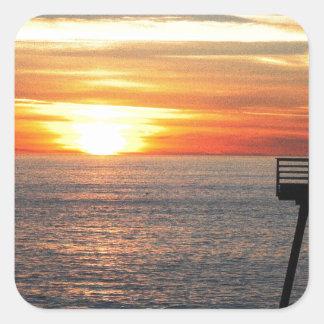 Adesivo Quadrado Por do sol