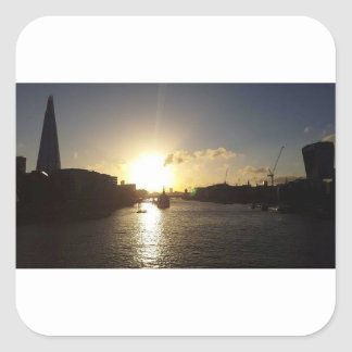 Adesivo Quadrado Por do sol de Londres
