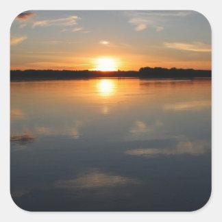 Adesivo Quadrado Por do sol de Missouri