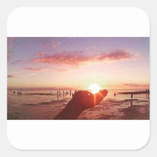 Adesivo Quadrado Por do sol maravilhoso e incrível nas Filipinas