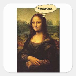 Adesivo Quadrado Porcos- de Mona Lisa