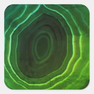 Adesivo Quadrado Porta copos original do design da fatia verde da