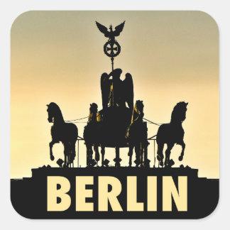 Adesivo Quadrado Porta de Brandemburgo do Quadriga 002,1 de BERLIM