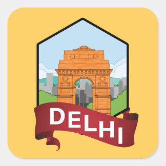 Adesivo Quadrado Porta de Deli India