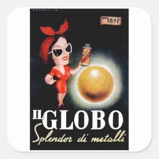Adesivo Quadrado Poster 1949 italiano da propaganda do IL Globo