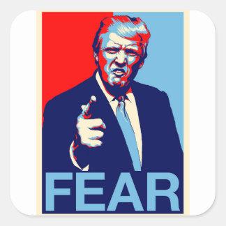 """Adesivo Quadrado Poster 2017 da paródia do """"medo"""" de Donald Trump"""