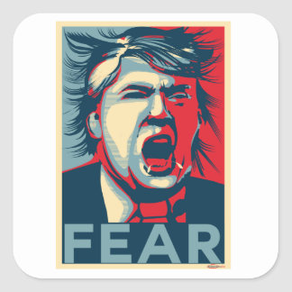 Adesivo Quadrado Poster da esperança do Anti-Trunfo do MEDO