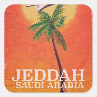 Adesivo Quadrado Poster das férias de Jeddah Arábia Saudita