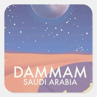 Adesivo Quadrado Poster de viagens de Dammam Arábia Saudita