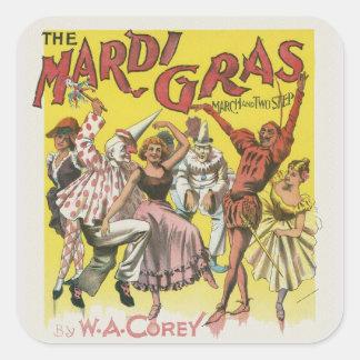 Adesivo Quadrado Poster do carnaval