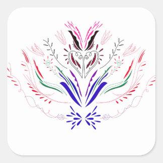 Adesivo Quadrado Povos do branco dos elementos do design