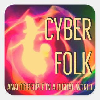 Adesivo Quadrado Povos do Cyber