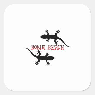 Adesivo Quadrado Praia Austrália de Bondi